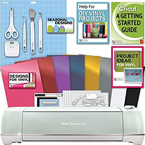 Amazoncom Cricut Explore Air 2 Machine Bundle Beginner Guide Tool