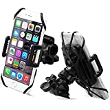 QUICK-Install Bike Phone Mount, Sahara Sailor Universal 360 D Rotating Bicycle Phone Holder Fit with IPhone 5/5S/6/6S Plus, Samsung Galaxy Note, All Devices 4 - 5.7