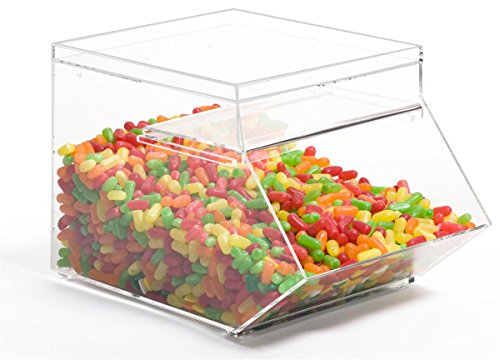 Displays2go Clear Acrylic Stackable Candy Bins Hold 1.5 Gallons