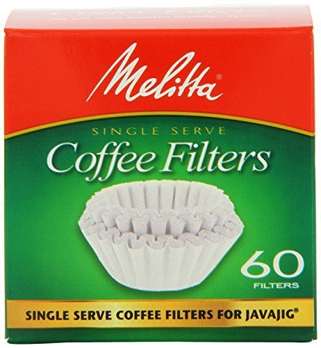 Melitta 63229 Single Serve Coffee Filters For JavaJigTM 60 Count (Pack of 4) (Single Cup Coffee Filter)