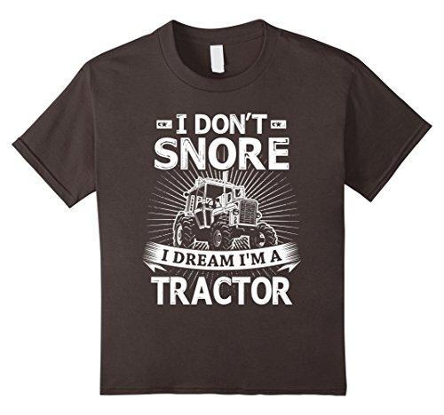 International Tractor (Kids I Don't Snore I Dream I'm A Tractor T-Shirt 6 Asphalt)