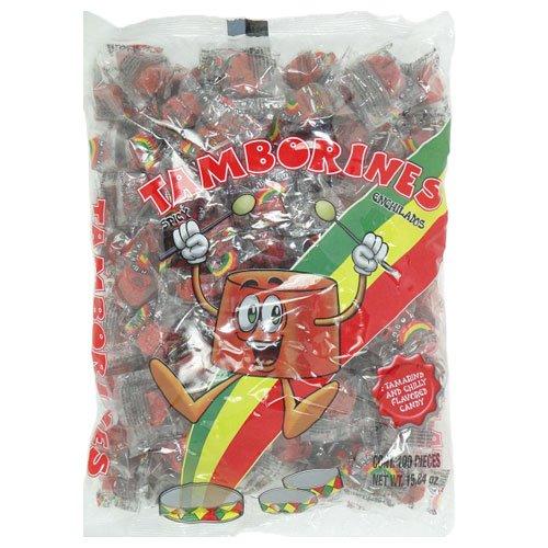 Tamborines Enchilados - Mexicn Hot Candy 100 Pieces 15.85 oz