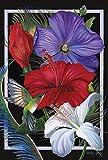 Toland Home Garden Hummingbird Hibiscus House Flag, Large