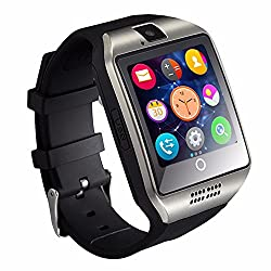 Jzori Q18 Bluetooth Smart Watch Touchscreen With Camera Unlocked Watch Cell Phone With Sim Card Slot Smart Wrist Watch Smartwatch Phone For Android Samsung Ios Iphone 7 Plus 6s (Silver)