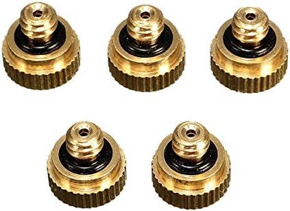 冷却システム噴霧器のための Queenwind 5pcs の 0.3 mm の黄銅のミストのノズル