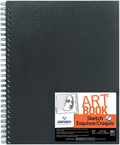 Price comparison product image Canson Artist Series Sketch Book Paper Pad,  for Pencil and Charcoal,  Acid Free,  Side Wire Bound,  65 Pound,  11 x 14 Inch,  80 Sheets