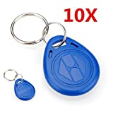 INSMA 10PCS 125Khz RFID Proximity ID Token Tag Key Keyfobs With Key Ring Entry Key Fob Blue Door Control For Access System