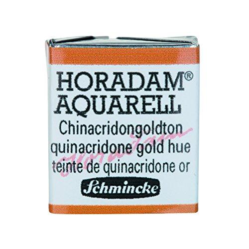 Schmincke Horadam Artists Watercolours Quinacridone Gold Hue Half Pan (Series 2) (217) HP217-S2
