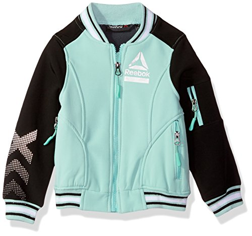 Reebok Girls' Active Outerwear Jacket,Bomber Mint,2T