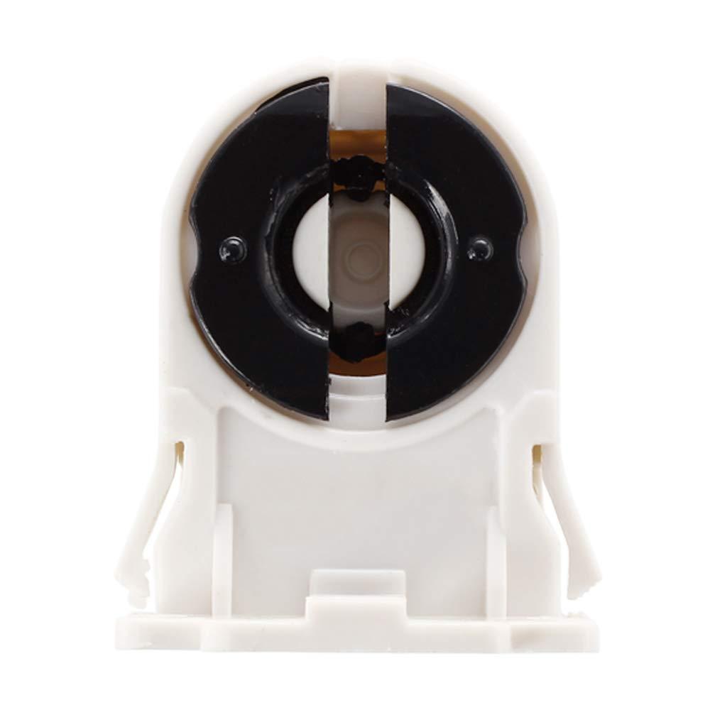 Tcplyn T8 Aging Lamp Holder T8 Fluorescent Lamp Light Socket LED Tube Lamp Holder Light Accessory Black/White 1 Pcs