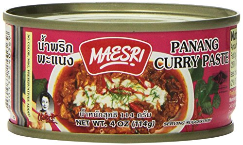 Maesri Thai Panang Curry Paste - 4 Oz (Pack of 4)