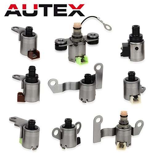 AUTEX 9PCS JF506E 09A O9A Transmission Solenoids Kit for VW Jaguar Land Rover Freelander 99-UP by AUTEX