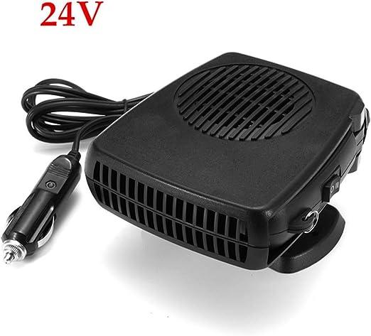 HOXMOMA Calentador de Coche portátil 12 V/24V, Ventilador portátil de refrigeración para calefacción, descongelador de Coche, Enchufe para mechero con Soporte Giratorio de 360 Grados,24v: Amazon.es: Hogar