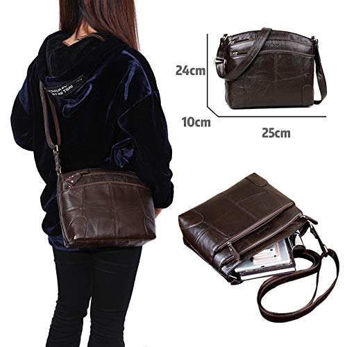 10a5723e95bc7 Image Unavailable. Image not available for. Color  Genuine Leather Bags for  Women Large Capacity Brand Shoulder Bag Ladies Crossbody Bags 2018 New  Handbag