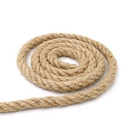 Amazon Com 32 Feet 100 Natural Thick Jute Hemp Rope 10mm Strong
