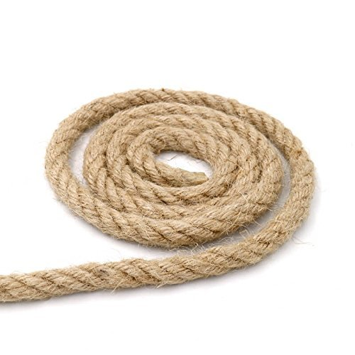 32 Feet 100% Natural Thick Jute Hemp Rope 10MM Strong String Craft Twine for DIY & Arts Crafts,Christmas Gift Packing Floristry Bundling
