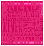 MBI 4x6 Inch Embossed Gloss Expressions ''Friends'' Pocket Album, Pink (823355)