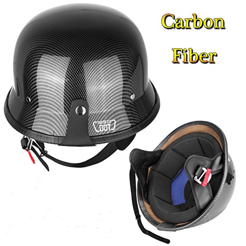 Carbon Fiber German Motorcycle Helmet - 7