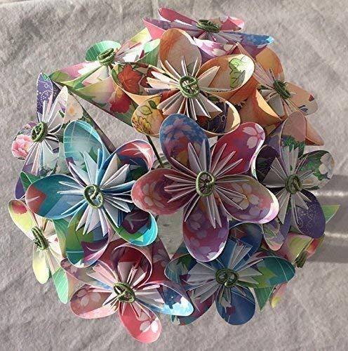 (Floral Fantasy Origami Paper Flower Bouquet)