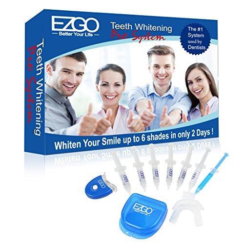 EZGO Home Professional Teeth Whitening Kit 6 XL Whitening Gel, Remineralization Gel with Light, Mouth Tray and Gel Applicator-Teeth Whitening Kit 60 Treatments, Great Gift Idea by E-Z-GO