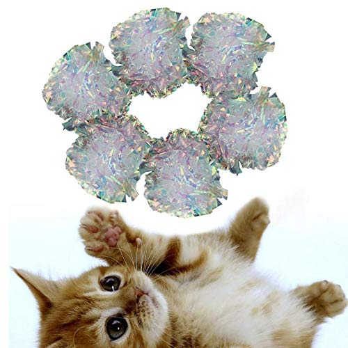 Flower Ball Sound Tin Paper Teasing Kitten Pet Cat Toys - Stuffing Night Butterfly Bored Catnip Octopus Girly Geographic Yeowww Zanies Banana Doorway Proof Treat Ma ()