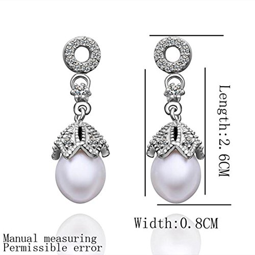 Teardrop-shaped, Earrings Pearl Earrings Elegant Earrings Ladies Earrings