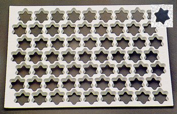 Thermo Cookie Cutting Sheet 1-3/8'' Star 95/Sheet by Thermohauser (Image #1)