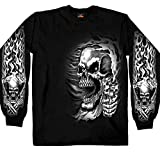 Hot Leathers Men's Assassin Long Sleeve T-Shirt (Black, XX-Large)
