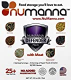 NuManna Defender Pack with Meat - 200 Meals, Emergency Survival Food Storage Kit Includes 74 Servings of Organic Grains and Super Foods, Separate Rations, In A Bucket, 25+ Year She