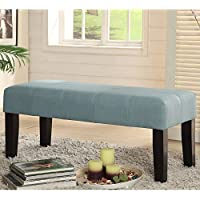 Furniture of America Brittany Reminiscence Vanity Bench Blue