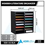 AdirOffice Wood Adjustable Literature Organizer