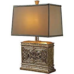 Dimond D1443 Laurel Run Table Lamp, Courtney Gold with Mirror