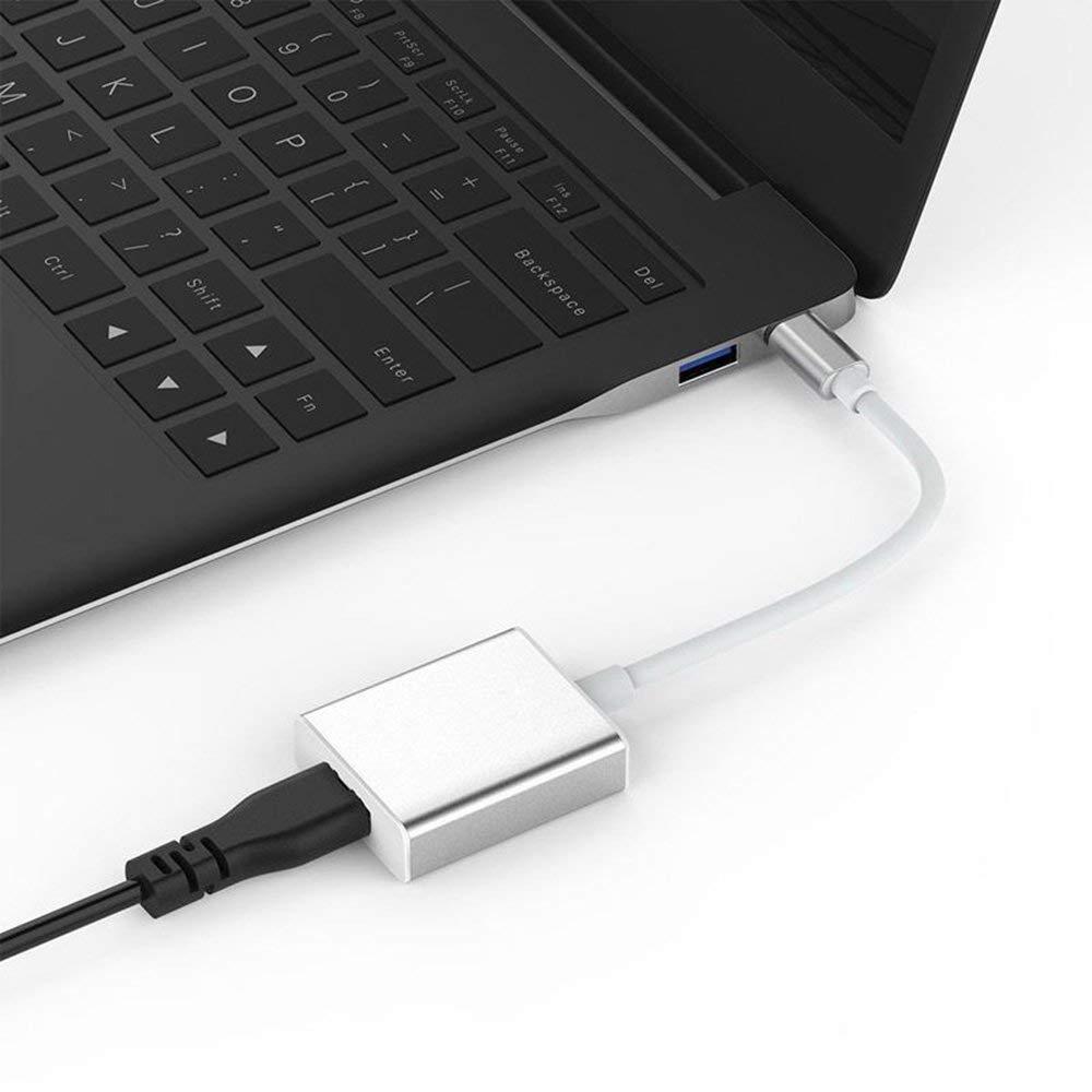 DGdolph Tama/ño port/átil Metal USB Tipo C USB-C a 4K Hdmi//Vga Adaptador Cable Convertidor Negro