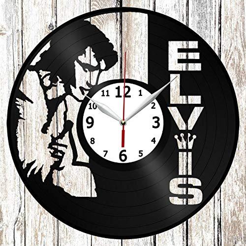 Elvis Presley Vinel Record Wall Clock Home Art Decor Original Gift Unique Design Handmade Vinyl Clock Black Exclusive Clock Fan Art