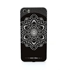 New - Black Obey Flower Embossed Design Silver Bumper Metal Frame Full Armor Protect Case Cover for Apple iPhone 5 5s 5th 5g 5Generation