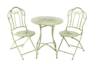 Terrific Bicycle Metal Garden Bistro Set For Two Home Interior And Landscaping Ferensignezvosmurscom