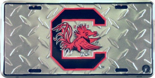 Carolina Gamecocks Diamond License Plate Tin Sign 6 x - South In Carolina Outlet