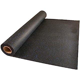 Greatmats 4x10 Ft Rolled Rubber (10% Blue fleck)