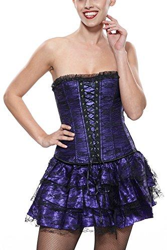 Khaya Women's Gothic Boned Corset Dress XX-Large Purple