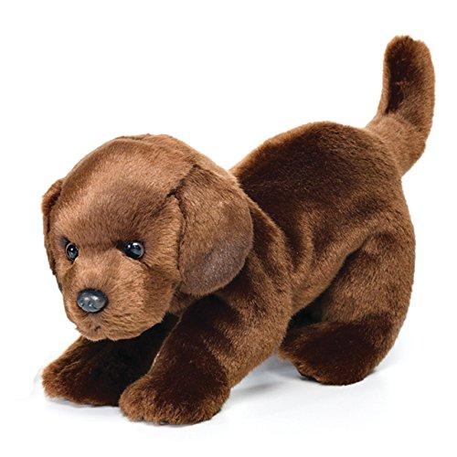 Large Chocolate Labrador Dog Warm Chestnut Children's Plush Stuffed Animal Toy
