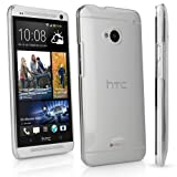 HTC One (M7 2013) Case, BoxWave® [Crystal Shell] Slim-Fit, Ultra Lightweight, Hard Shell Cover for HTC One (M7 2013) - Crystal Clear