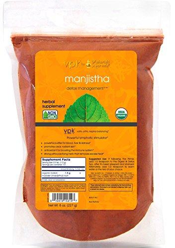 Organic Manjistha - Kulreet Chaudhary The Prime   8 oz. (227g)   Powerful Lymphatic Stimulator   Antioxidant   Promotes Radiant Skin