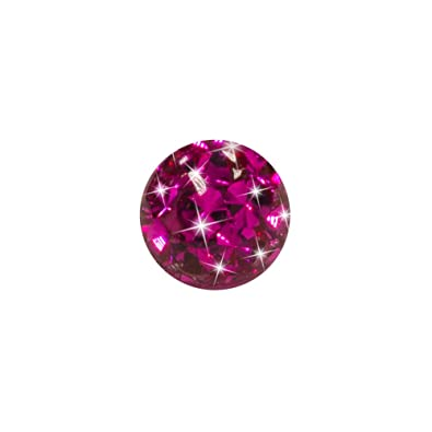 Blue Banana Body Piercing Bola Enjoyada Purpurina Acero Quirúrgico 5mm (Fucsia)