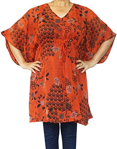 Maple Clothing Para Mujer Impreso Ropa Playa Ropa De Noche Caftan Naranja