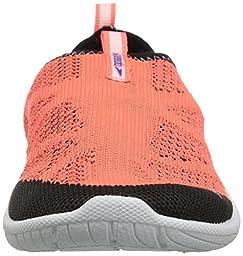 Speedo Kids\' Surf Knit Athletic Water Shoe, Hot Coral, 3 D US Little Kid