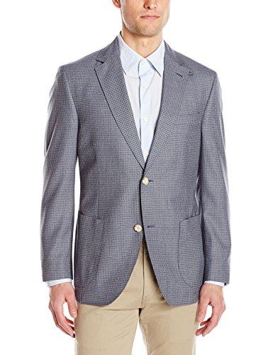 (Kroon Men's Bono 2 Fancy Silk and Wool Italian Fabric, Grey, 38 Short)
