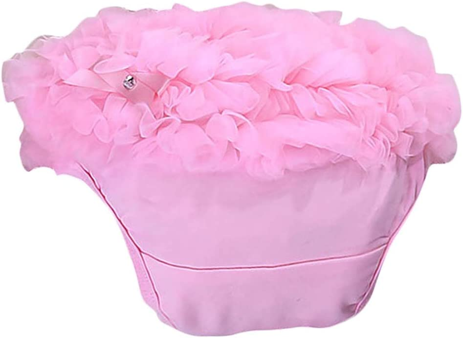 DierCosy Baby Girl Elastic Knickers Cotton Ruffle Panties Kids Bloomers Diaper Cover Pink Size S BabyProducts