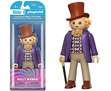 Amazon.com  Funko Playmobil  Willy Wonka - Willy Wonka Vinyl Figure ... ee5139bf64a7