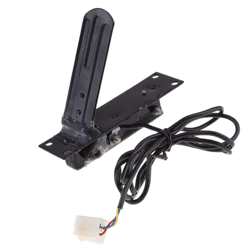 perfk Metal Hall Effect Throttle Accelerator Foot Control Pedal for E-Bike//Scooter//Go Kart