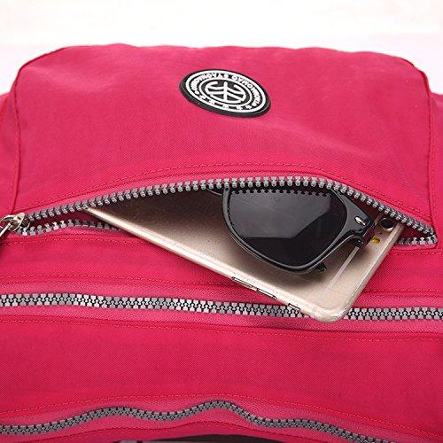 Outreo Bolso Bandolera Escuela Bolsos Mujer Casual Bolsos de Moda Ligero Bolsas de Deporte Impermeable Bolsas de Viaje para Sport Bag Verde